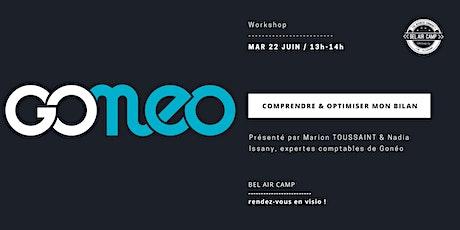 """Workshop """"Comprendre et optimiser mon bilan"""" billets"""