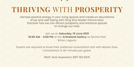 Thriving With Prosperity with Feng Shui Master Fracis Gaw tickets