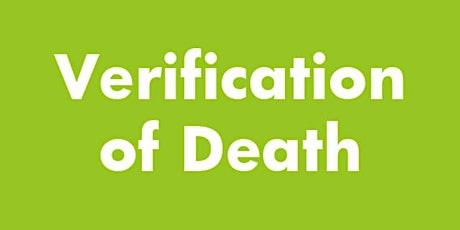 Verification of Death Training tickets