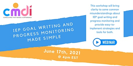IEP Goal Writing and Progress Monitoring Made Simple tickets