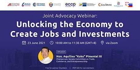 Unlocking the Economy to Create Jobs and Investments tickets
