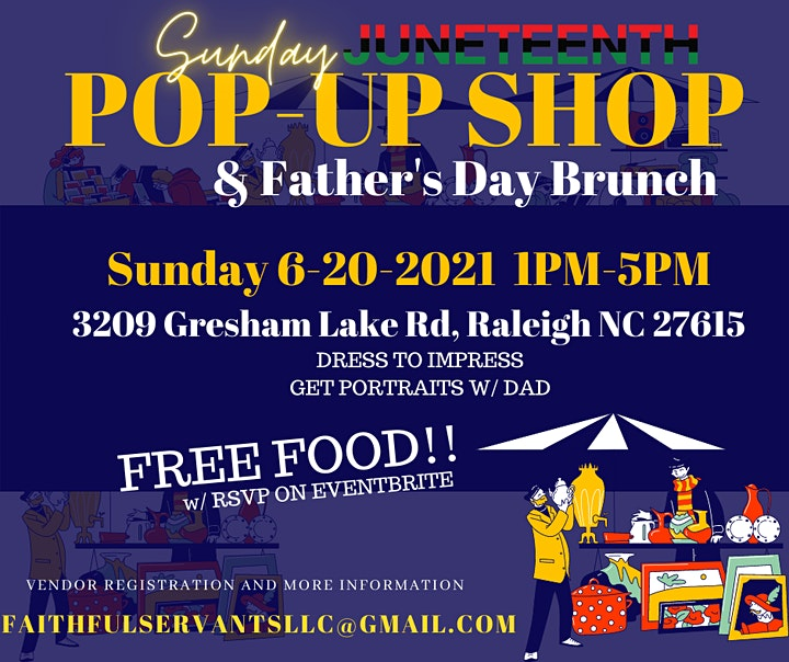 JUNETEENTH: Father's Day Brunch and pop up shop image
