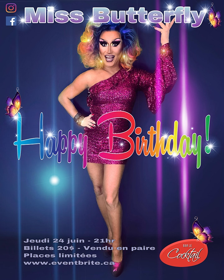 Miss Butterfly Happy Birthday image