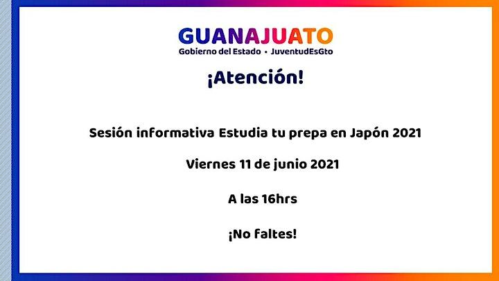 """Imagen de Sesión de dudas """"Estudia tu prepa en Japón 2021"""""""