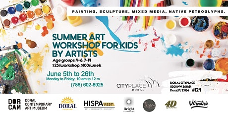 Summer Art Workshops for Kids by Artists tickets
