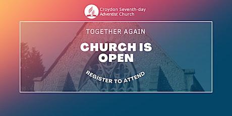 Croydon SDA Church Worship Service Admission tickets