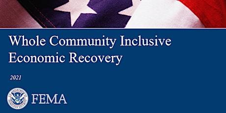 PER-386 FEMA Whole Community Inclusive Economic Recovery tickets