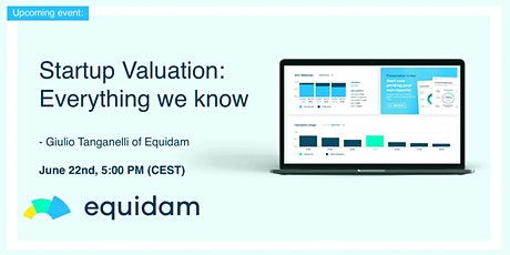 Startup Valuation - Everything We Know tickets