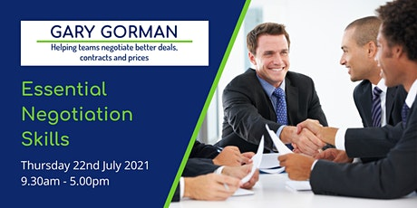 Essential Negotiation Skills tickets