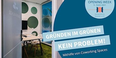 Opening Satellit Wachenheim - Tag 4: Gründen im Grünen - Kein Problem! Tickets