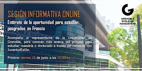 Sesión informativa, Maestrías en la Universidad de Grenoble Francia boletos