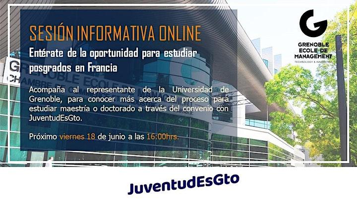 Imagen de Sesión informativa, Maestrías en la Universidad de Grenoble Francia