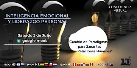 Conferencia Virtual: Inteligencia Emocional y Liderazgo Personal entradas