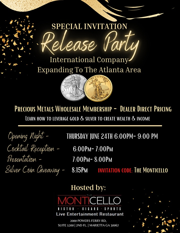 Release Party for the Precious Metals Wholesale Membership- Dealer Direct image
