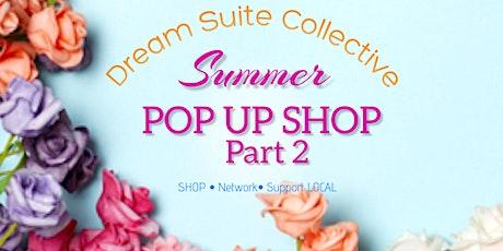 Summer Pop up shop 2 tickets