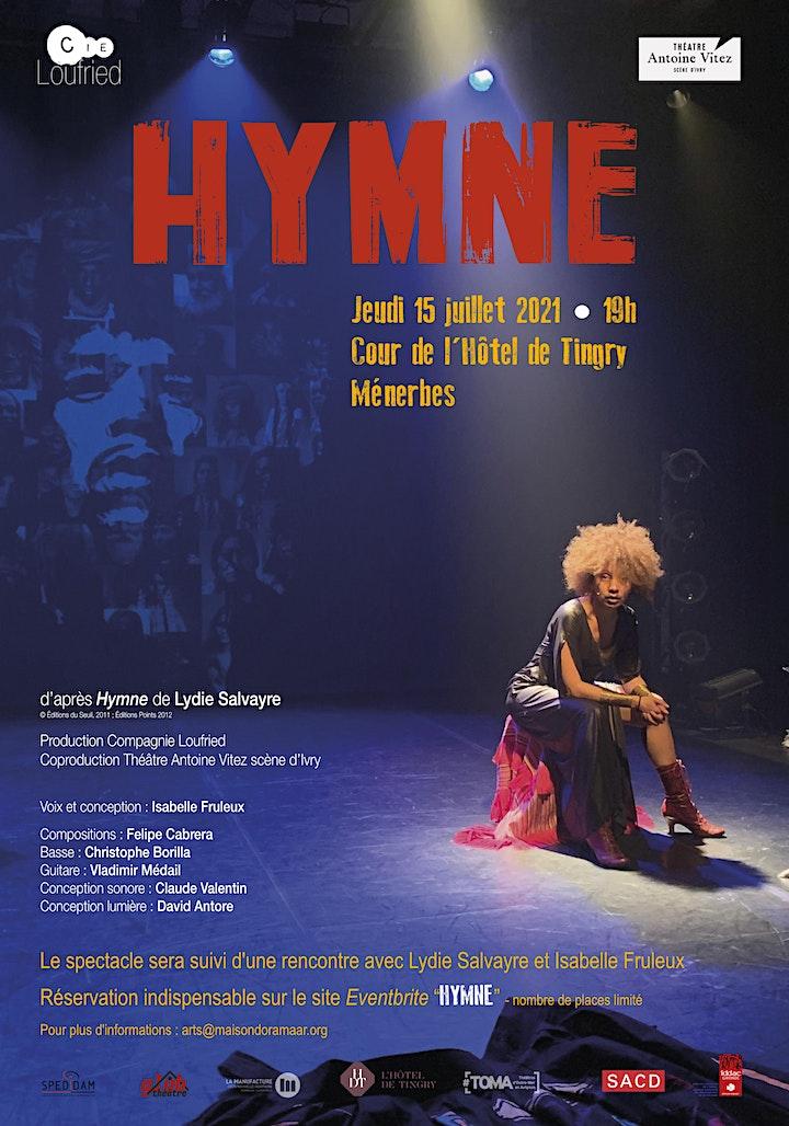 Image pour Hymne, d'après le livre de Lydia Salvayre réalisé par Isabelle Fruleux
