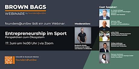 Entrepreneurship im Sport - Perspektiven zum Ökosystem Tickets