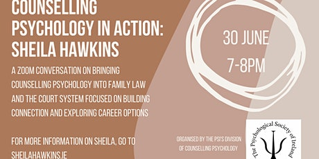 Counselling Psychology in Action: Family Law & Psychology - Sheila Hawkins tickets