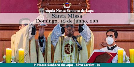 SANTA MISSA - 13/06 - Domingo - 08h ingressos