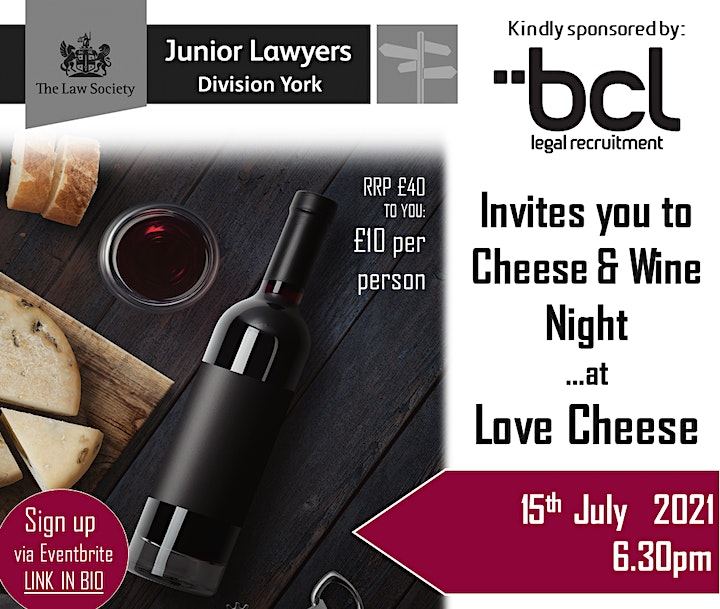 York JLD Cheese & Wine Night 2021 (sponsored by BCL) image