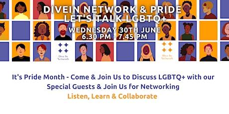 Pride with DiveIn.Network - Let's talk LGBTQ+ tickets