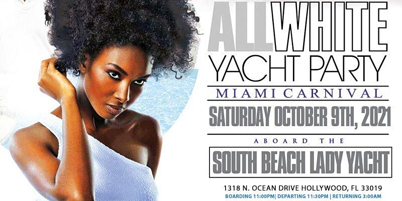 All white yacht party