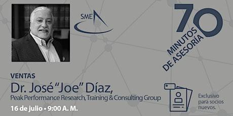 """70 minutos de Asesoría con el Dr. José """"Joe"""" Díaz boletos"""