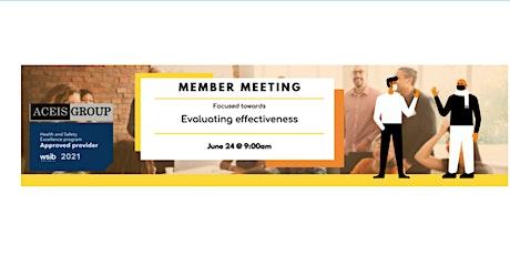 Member Meeting biglietti