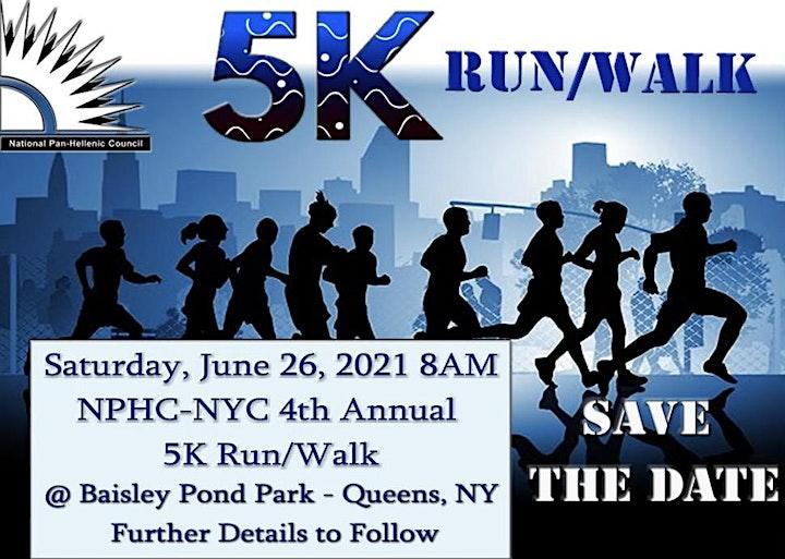 NPHC-NYC 4th Annual 5K Run/Walk for Health image
