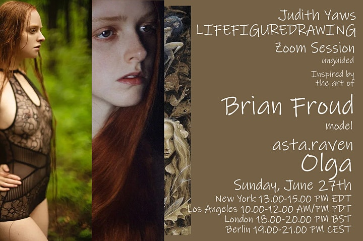 Life Figure Drawing Session via Zoom  - insp. by Brian Froud art with Olga image
