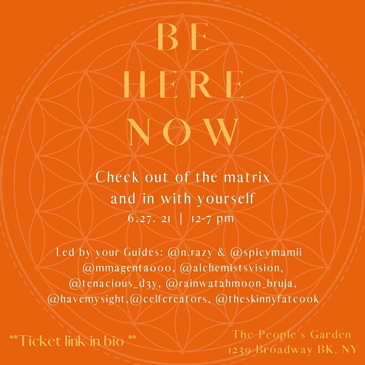 Be Here Now - Healing Circle in the Garden image