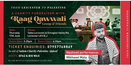 From Leicester to Palestine tickets
