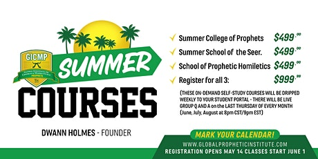 GICMP SUMMER COLLEGE OF PROPHETS - PROPHETIC EDUCATION TRACK tickets