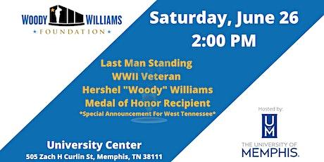 """Last Man Standing:  WWII Veteran Hershel """"Woody"""" Williams, Medal of Honor tickets"""