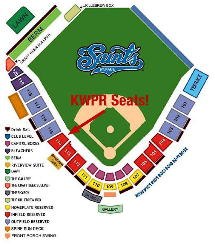 KWPR 5th Annual Saint Paul Saints Game! image