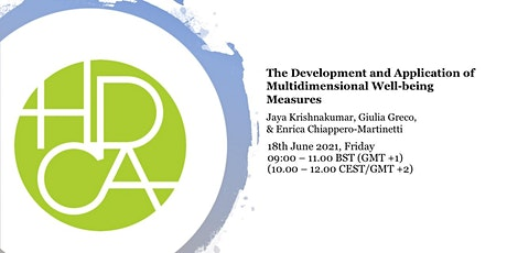 The Development and Application of Multidimensional Well-being Measures ingressos