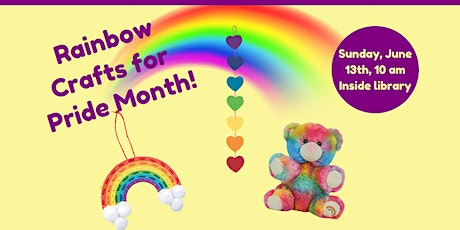 SUNDAY FUNDAY! Rainbow Crafts for Pride Month (Ages 4-12) tickets