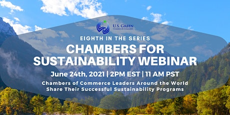 """8th """"Chambers for Sustainability"""" Webinar tickets"""