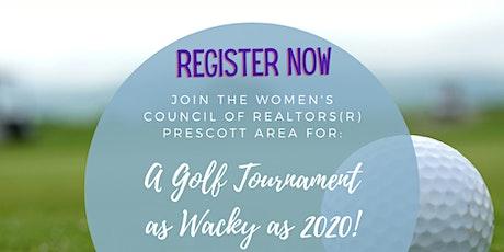 Sponsorship for WCR Prescott Area Golf Tournament as Wacky as 2020 tickets