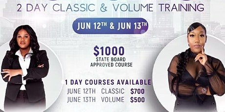 Lash Clash 2 day Classic and Volume Training tickets