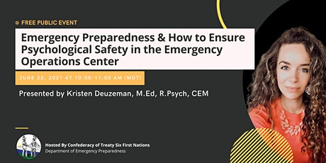 How to Ensure Psychological Safety in the Emergency Operations Center tickets