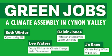 Green Jobs - A Cynon Valley Climate Assembly biljetter