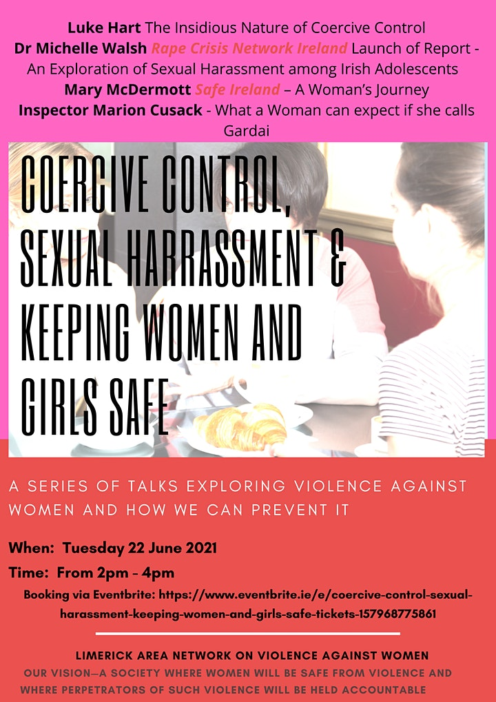Coercive control, Sexual Harassment & Keeping Women and Girls Safe image