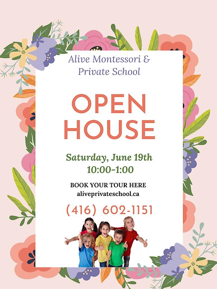 Open House - Alive Montessori & Private School image