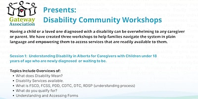 Session 1: Understanding Disability In Alberta