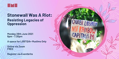 Stonewall Was A Riot: Resisting Legacies of Oppression tickets