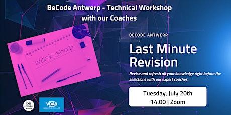 BeCode Antwerp - Technical Workshop tickets