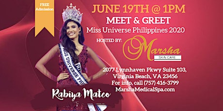 FREE MEET & GREET with Miss Universe Philippines 2020 tickets