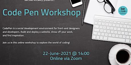 BeCode Antwerp - Code Pen Workshop tickets