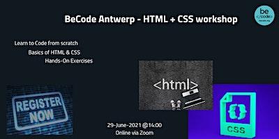 BeCode Antwerp – HTML + CSS workshop